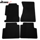 Fits 96-98 Acura TL Black Nylon Front Rear 4PC Floor Mats