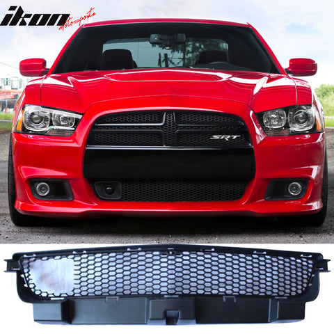 Fits 12-14 Charger SRT8 Front Grille w/ Adaptive Cruise Control Black