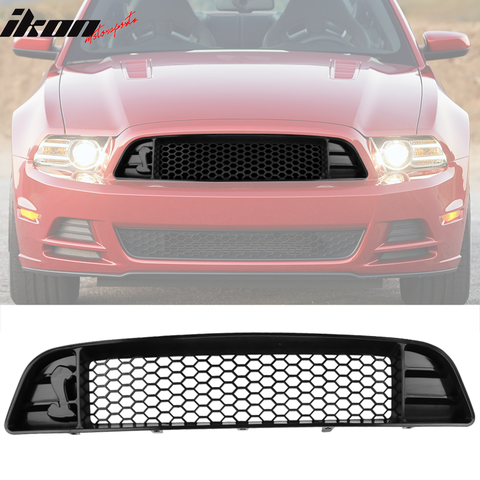 Fits 13-14 Ford Mustang Shelby GT500 Upper Grille With Mesh For V6 GT