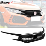 Fits 16-21 Honda Civic Type R Sedan Coupe FK8 Front Bumper Grille Hood