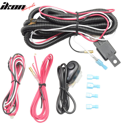 Fog Lamps Wiring Harness Kits Lamp LED Work Light Bar & Switch & Relay