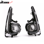 Fits 18-19 Toyota Yaris OE Style Foglights Kit ABS Black Housing Clear