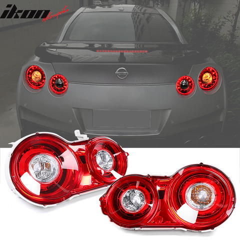 Fits 09-18 Nissan GTR OE Factory Style LED Red Tail Lights Lamp Replac