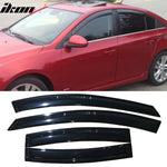 Fits 11-15 Chevy Cruze Acrylic Window Visors 4Pc Set