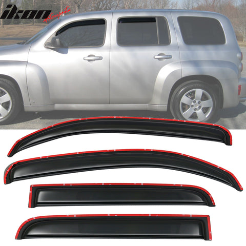 Fits 06-11 Chevy HHR Sedan In Channel Style Acrylic Window Visors 4Pc