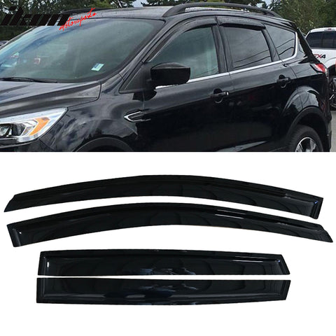 Fits 13-18 Ford Escape Acrylic Window Visors 4Pc Set