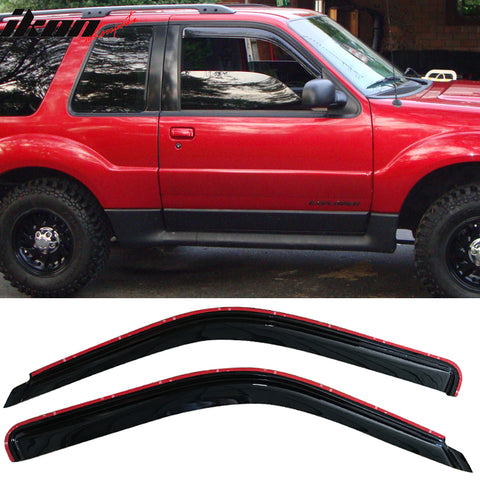 Fits 91-00 Ford Explorer In Channel Style Acrylic Window Visors 2Pc Se
