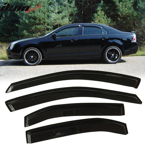 Fits 06-12 Ford Fusion Acrylic Window Visors 4Pc Set
