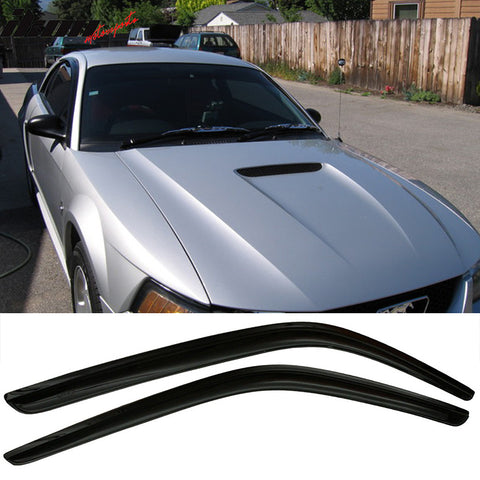 Fits 94-04 Ford Mustang Acrylic Window Visors 2Pc Set