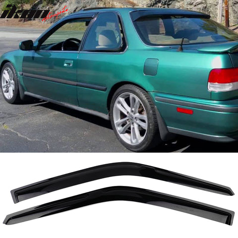 Fits 90-93 Honda Accord Coupe Acrylic Window Visors 2Pc Set