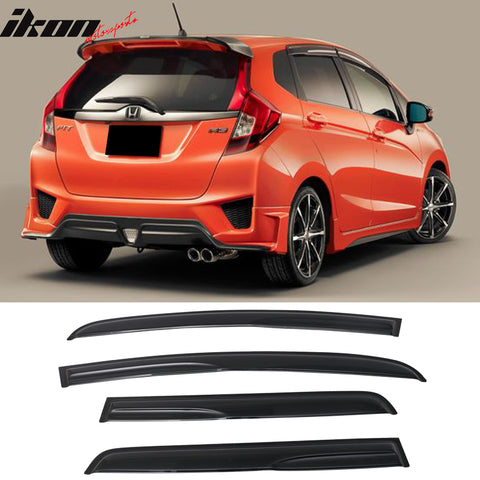 Fits 15-19 Honda Fit Mugen Acrylic Window Visors