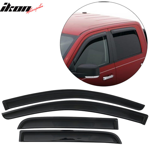 Fits 13-18 Mitsubishi Mirage Hatchback Acrylic Window Visors 4Pc Set