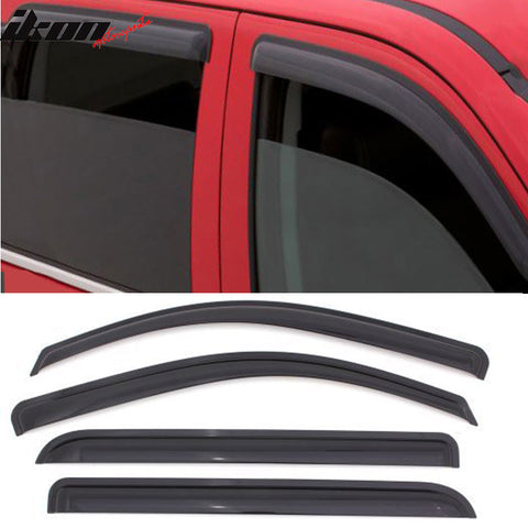 Fits 97-01 Mitsubishi Mirage Sedan Acrylic Window Visors 4Pc Set