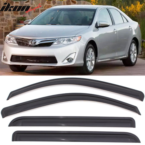 Fits 12-14 Toyota Camry Acrylic Window Visors 4Pc Set