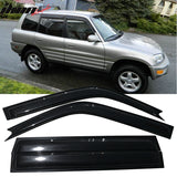 Fits 96-00 Toyota RAV4 Acrylic Window Visors 4Pc Set