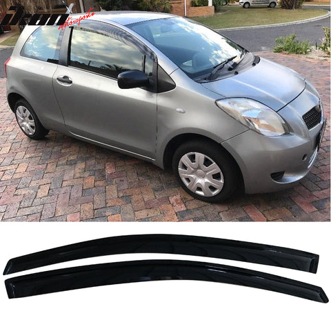 Fits 07-11 Toyota Yaris 2 Door Hatchback Acrylic Window Visors