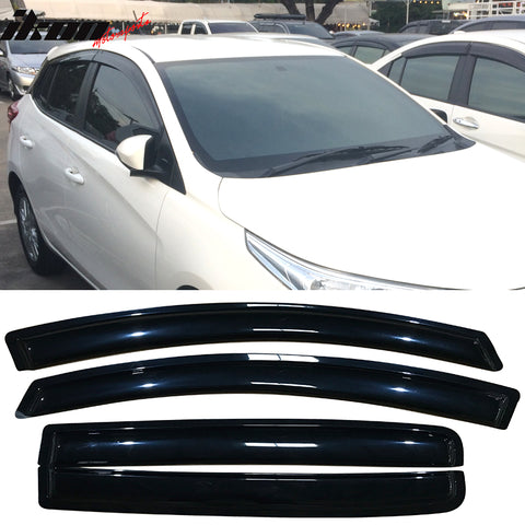 Fits 12-18 Toyota Yaris Hatchback Acrylic Window Visors 4Pc Set