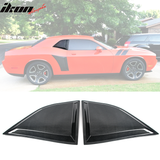 Fits 08-20 Dodge Challenger XE Style Carbon Fiber Print Window Louvers