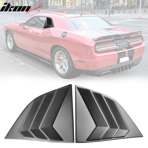 Fits 08-20 Dodge Challenger XE V3 Window Louvers Scoops 2PC PP