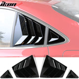 Fits 20-21 Toyota Corolla Side Window Louver Guards 4PC Gloss Black