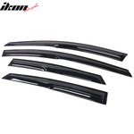 Fits 12-16 Ford Focus Mugen Style Acrylic Window Visors 4PC Set