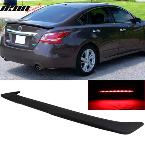 Fits 13-15 Altima 4Dr Sedan Rear Trunk Spoiler Wing LED Brake Light Ma