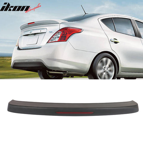 Fits 12-19 Nissan Versa 4 Door Matte Black Rear Trunk Spoiler Wing ABS