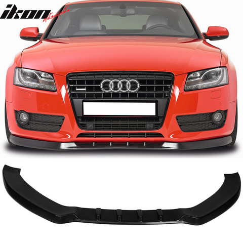 Fits 08-12 Audi A5 Base B8 MX Front Bumper Lip - PU