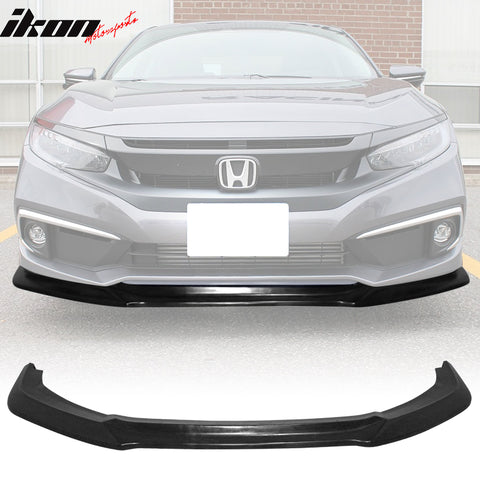 Fits 19-20 Honda Civic GT Style Front Bumper Lip Spoiler - PU