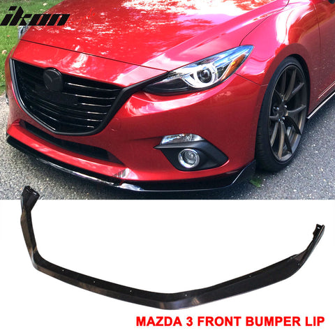 Front Bumper Lip Compatible With 2014-2016 MAZDA 3 4Dr 5Dr, Mazdaspeed