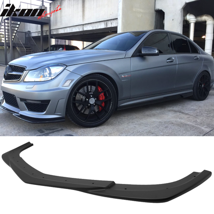 Fits 12-14 Mercedes Benz W204 C63 GH Front Lip Matte Black