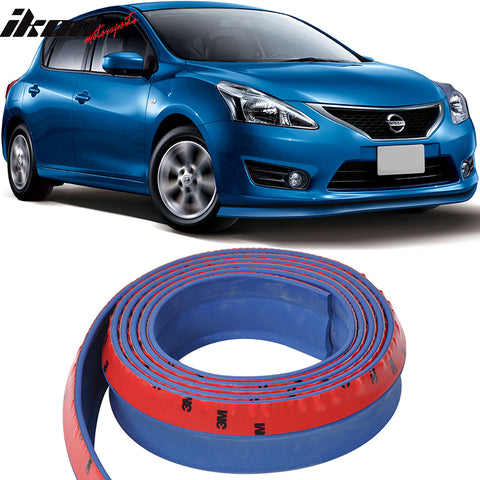 100in 8.5 FT Matte Blue Front Bumper Lip Side Splitter Quick EZinstall
