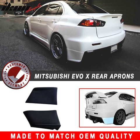 Rear Bumper Lip Compatible With 2008-2015 Lancer Evolution, EVO Style