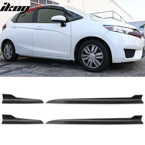 Universal Fit IKON Style Side Skirts Rocker Panels 4PCS - Propylene PP