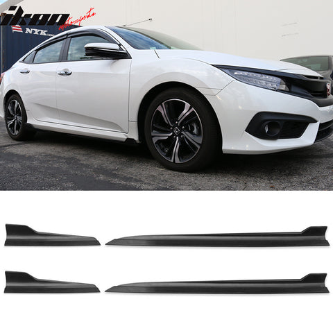 Fits Honda Civic Side Skirts Rocker Panels 4PCS (PP)