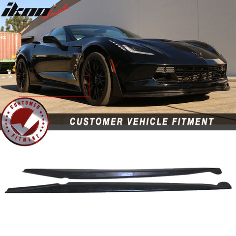 Fits 14-19 Chevy Corvette Stingray Pair Side Skirts Left Right Extensi
