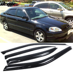 Fits 99-00 Honda Civic Sedan Mugen Front Bumper Lip PP + Window Visors