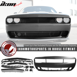 Fits 08-14 Dodge Challenger Front Bumper Cover Conversion w/ Grille -