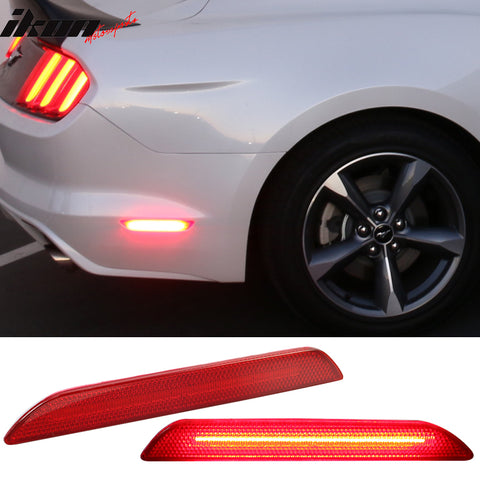 Fits 15-17 Ford Mustang Rear Side Marker LED Lights Lamps Reflectorss