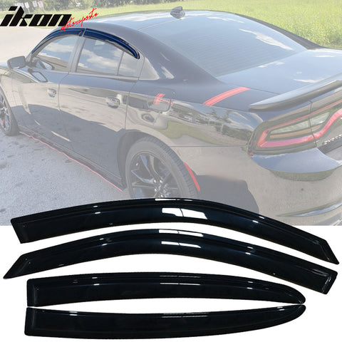 Fits 11-20 Dodge Charger Acrylic Window Visors 4Pc Set