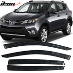 Fits 13-18 Toyota RAV4 Acrylic Window Visors 4Pc Set