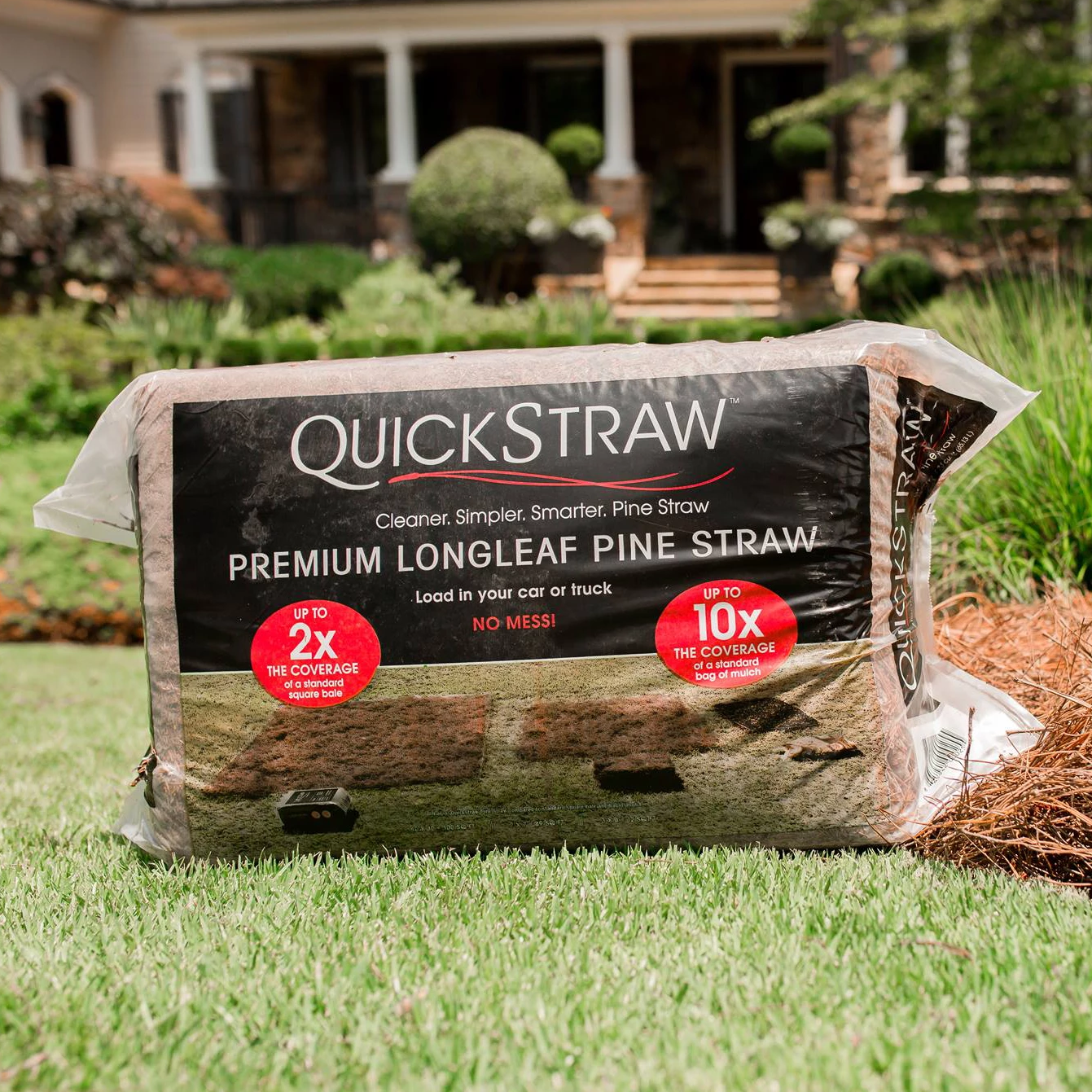 QuickStraw - Bagged Long Leaf Pine Needles