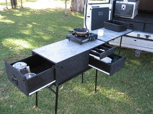 drifta car back camp kitchen chuck box - Camping Kitchen