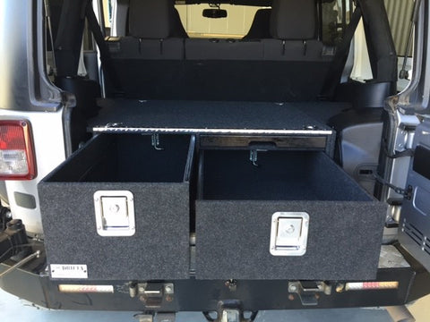 Drifta JK Jeep Drawers - Side Mounted Sub Version