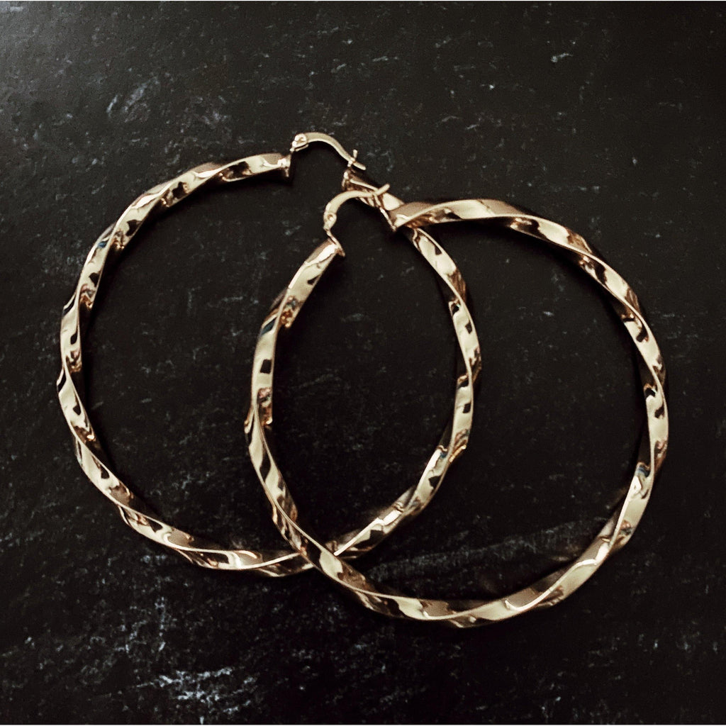 COCOA ARI - Whitney Large Twisted Hoops