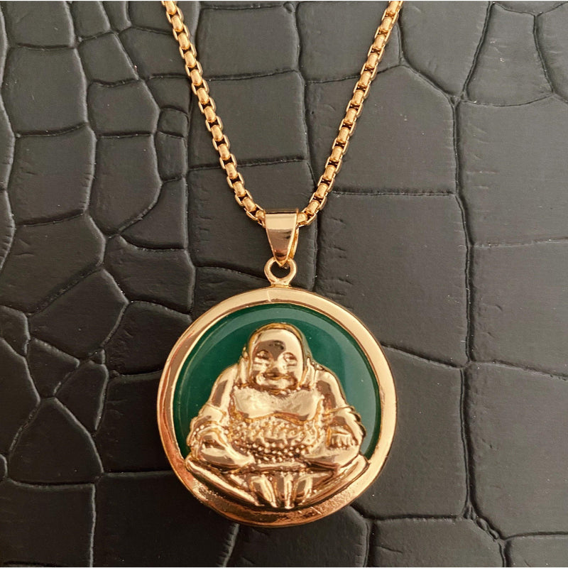 COCOA ARI - Emerald Buddha Necklace