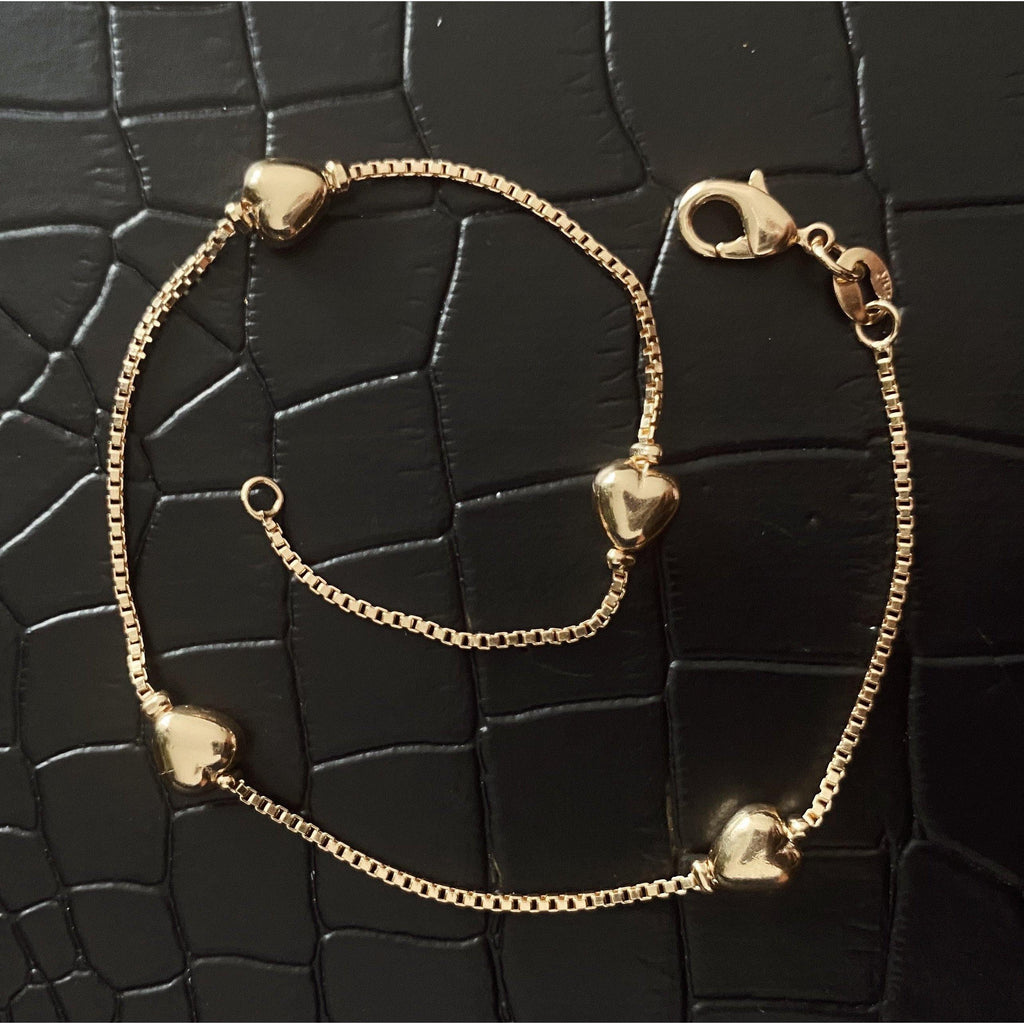 COCOA ARI - Love Heart Gold filled Anklet