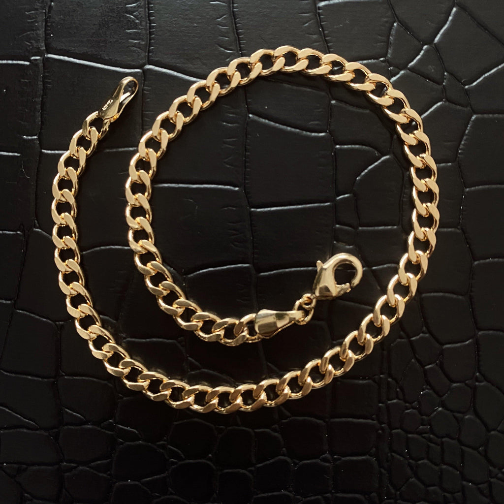 COCOA ARI - Gold filled Curb Chain Anklet