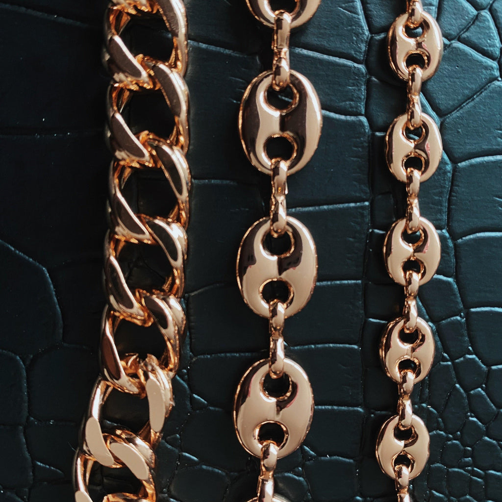 COCOA ARI - Rose Gold Filled Gucci Links