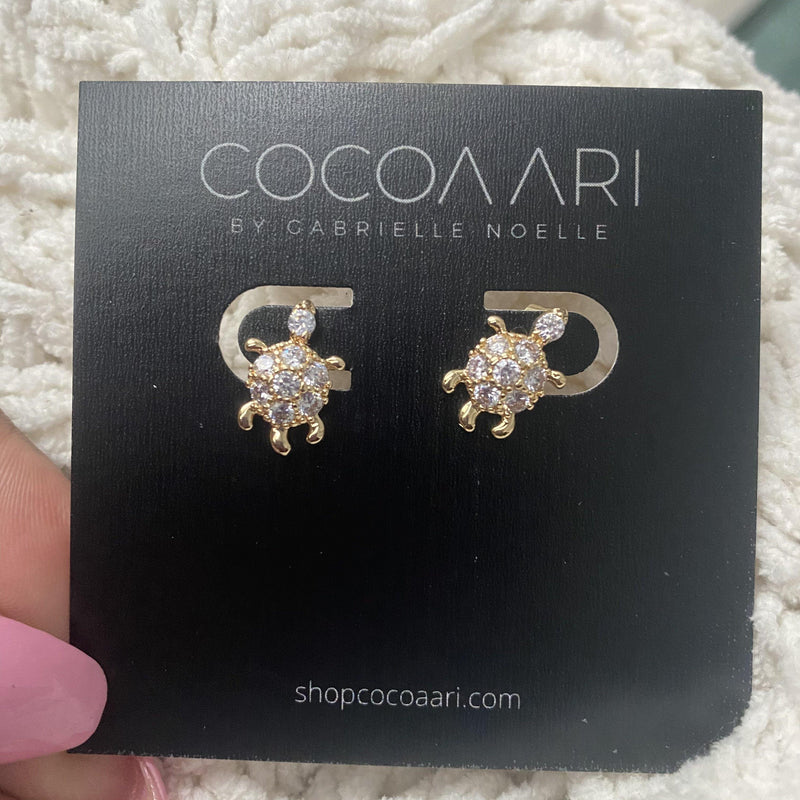 COCOA ARI - Mini Turtle Studs
